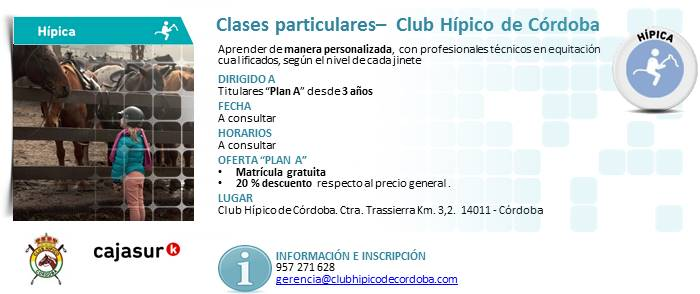 Clases particulares hípica